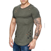 Load image into Gallery viewer, Men's Summer Hole Solid Color T-Shirt