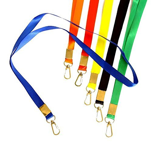 Lanyards | Attractive Lanyards in Vibrant Colors! Pack of 12 Durable Nylon Neck ID Name Tag Straps.
