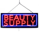 Beauty Supply - Large LED Window Sign (#2593) - Led Open Signs