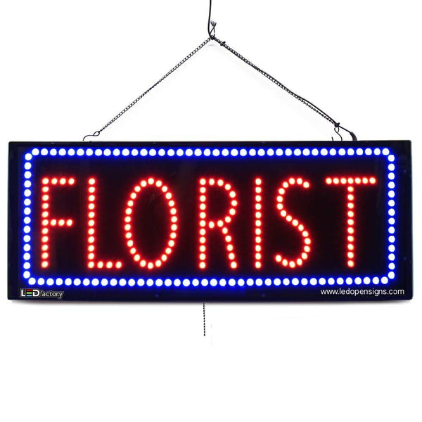 Florist - Large LED Window Sign (#2603) - Led Open Signs
