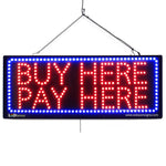Buy Here Pay Here - Large LED Window Sign (#2620) - Led Open Signs