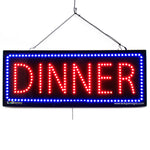 Dinner- Large LED Window Sign (#2655) - Led Open Signs