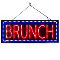 Brunch- Large LED Window Sign (#2667) - Led Open Signs