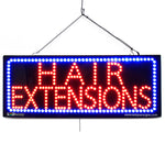 Hair Extensions - Large LED Window Sign (#2724) - Led Open Signs