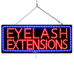 Eyelash Extensions - Large LED Window Sign (#3193) - Led Open Signs