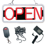 Rectangular Shape, Red - White Color (#3283) - Led Open Signs
