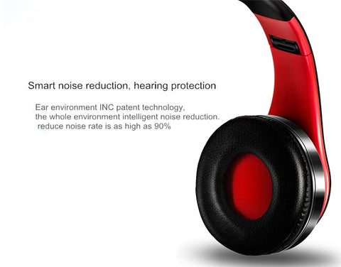 HIFI Bluetooth headphones - FM and support SD card with mic
