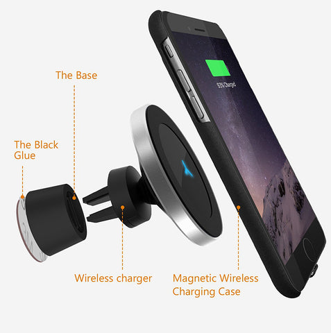 360 Degree Rotation Magnetic Car Fast Wireless Charger