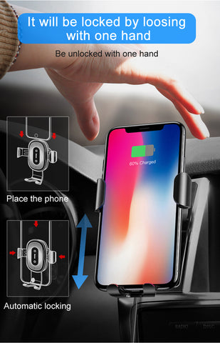 10w Fast Charging Wireless Car Charger