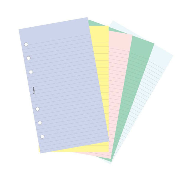 Filofax Personal Plain - Ruled Multicolor 100 Pack Notepaper-Pen Boutique Ltd
