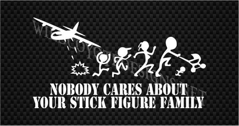 "Decal - AC-130 ""Nobody Cares about your Stick Figure Family"""