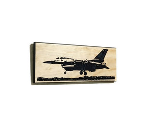 Wall Art | Wood - F-16 Carved Wood Art