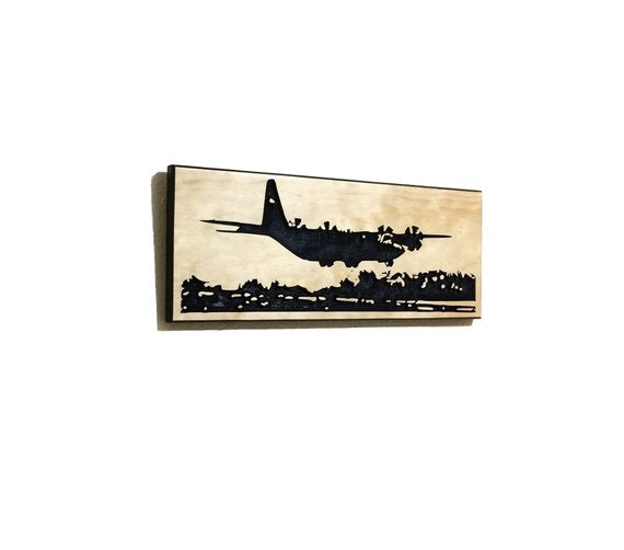 Wall Art | Wood - C-130J Carved Wood Art