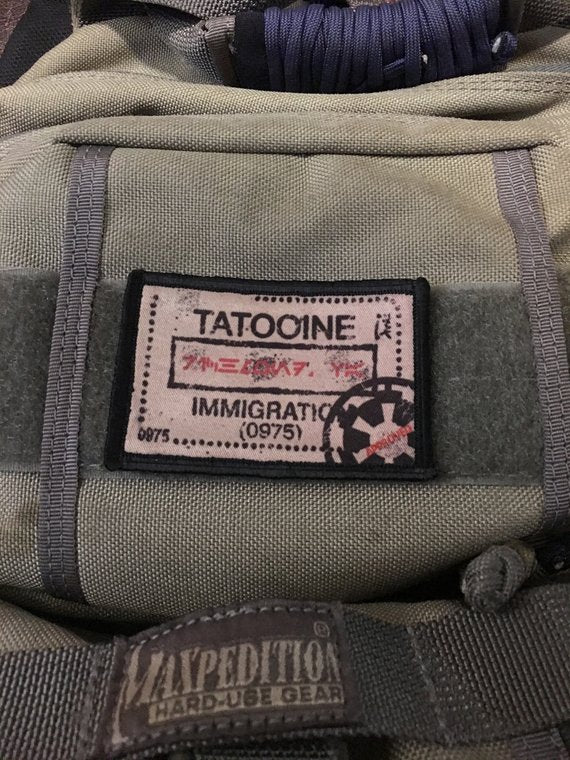 "Morale Patch - ""Tatooine Passport Stamp"" 2x3""  Patch"