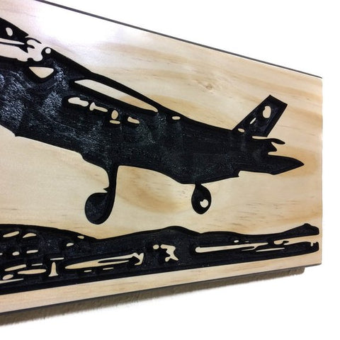 Image of Wall Art | Wood- F-35 Carved Wood Art