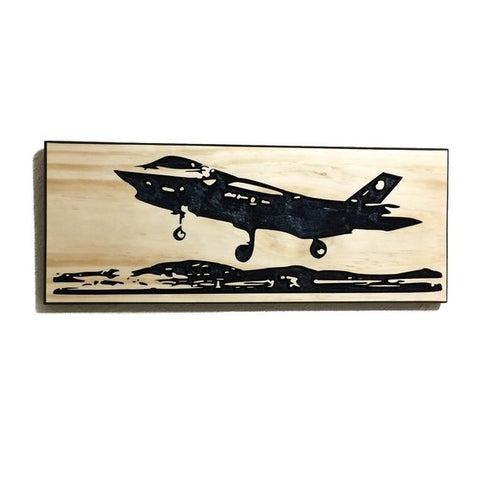 Wall Art | Wood- F-35 Carved Wood Art