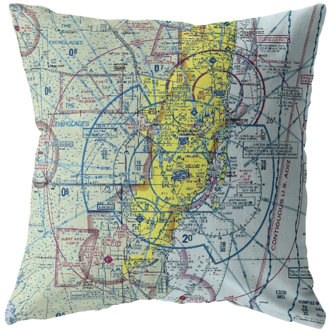 Throw Pillow |  Miami, Florida VFR Sectional