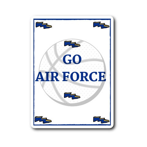 "Sticker | ""Go Air Force"" - Basketball"