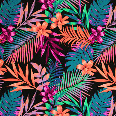 Hawaiian Tropical Printed Spandex