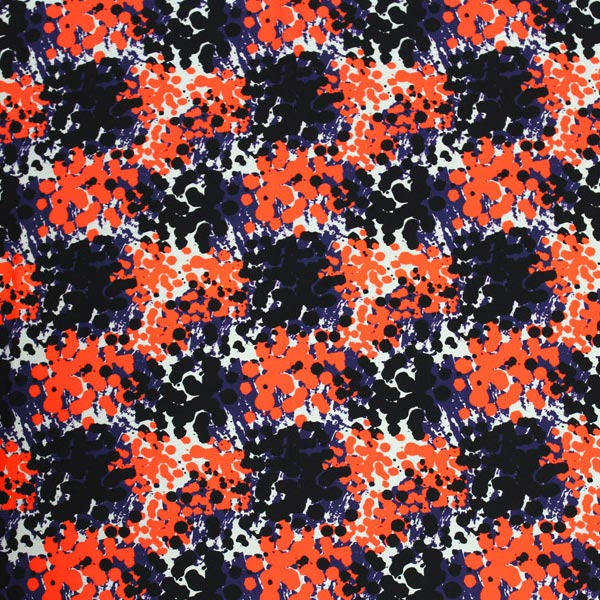 Abstract Spots Printed Spandex