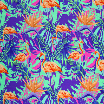 Flamingo Purple Mint Printed Spandex