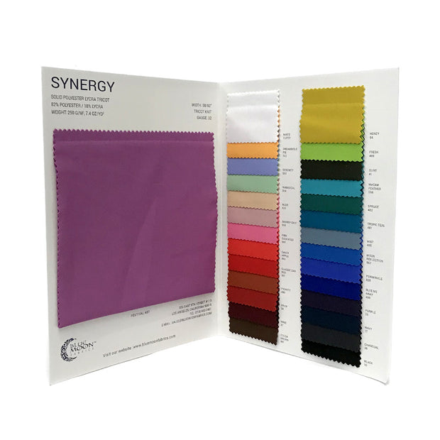 Synergy Polyester Lycra Color Card