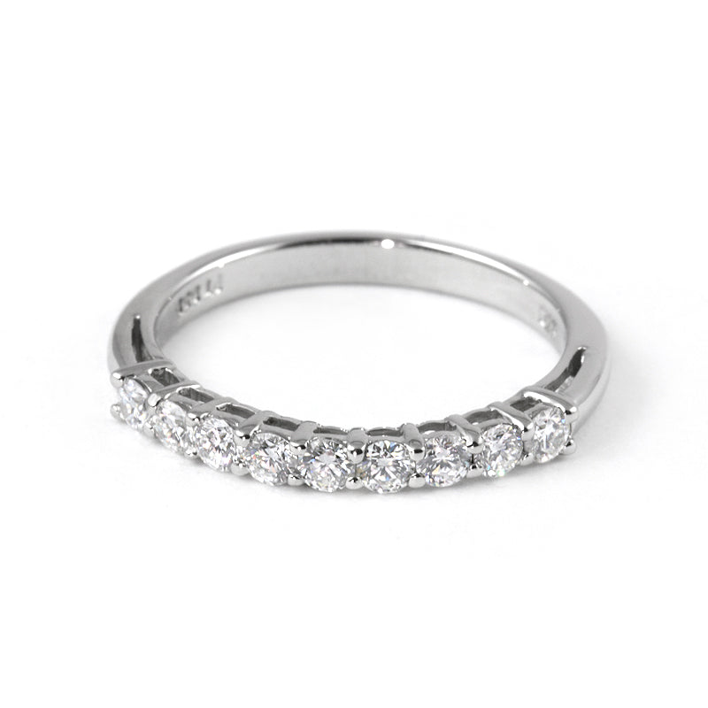 Fink's Prong Set 9 Round Diamond Band