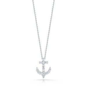 Roberto Coin Tiny Treasures Diamond Anchor Pendant