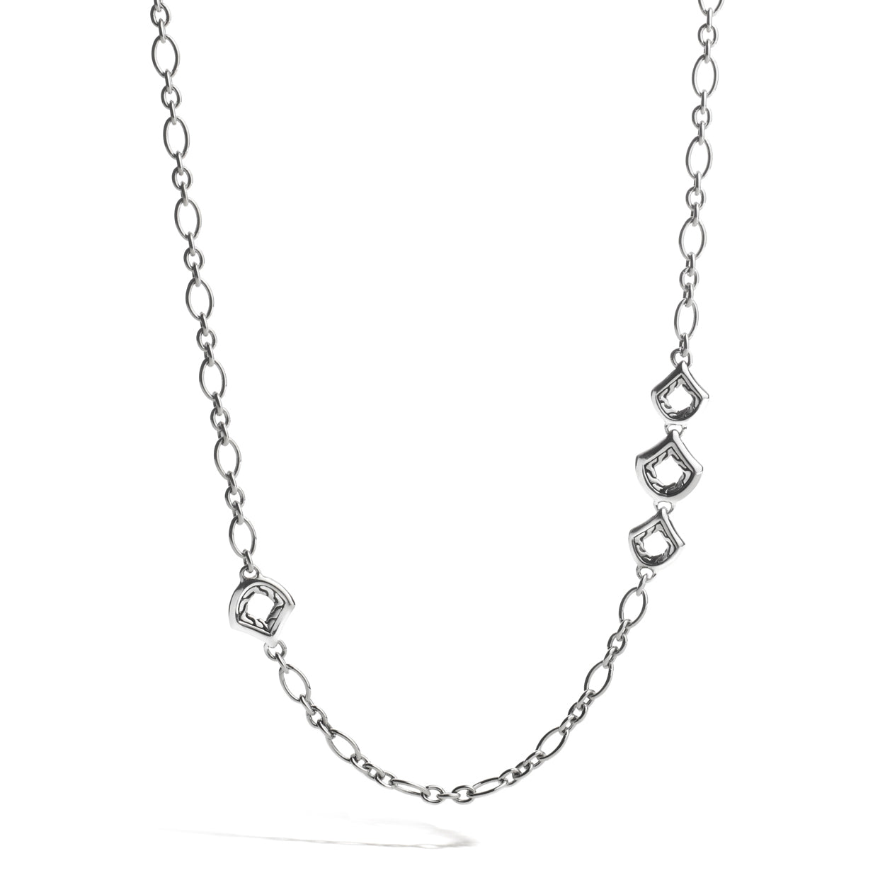 John Hardy Naga 4mm Figaro Chain with Figurative Naga Clasp