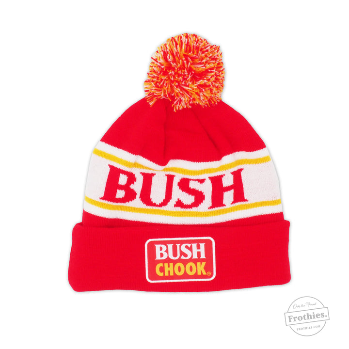Red Pin Stripe - Bush Chook Beanie