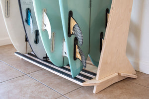 THE PACIFICA FREESTANDING SURFBOARD DISPLAY RACK