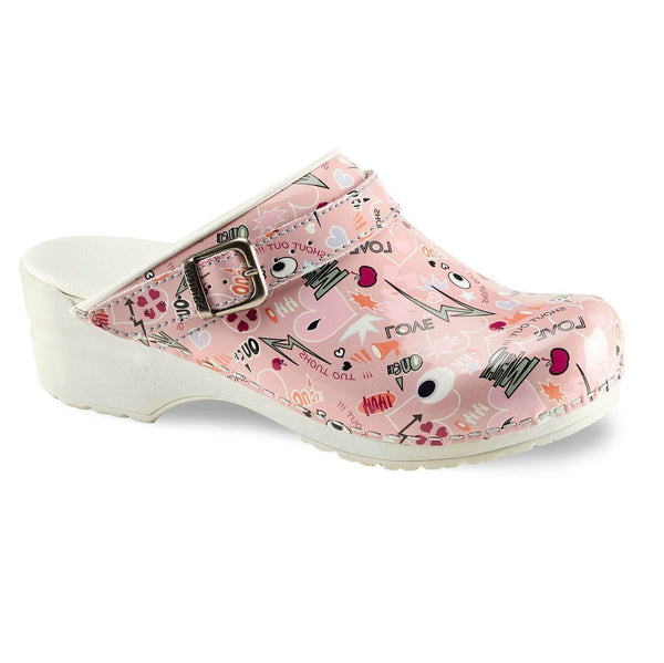 Pink / 36 Sanita ShoutOut Clog Open Heel Shoes