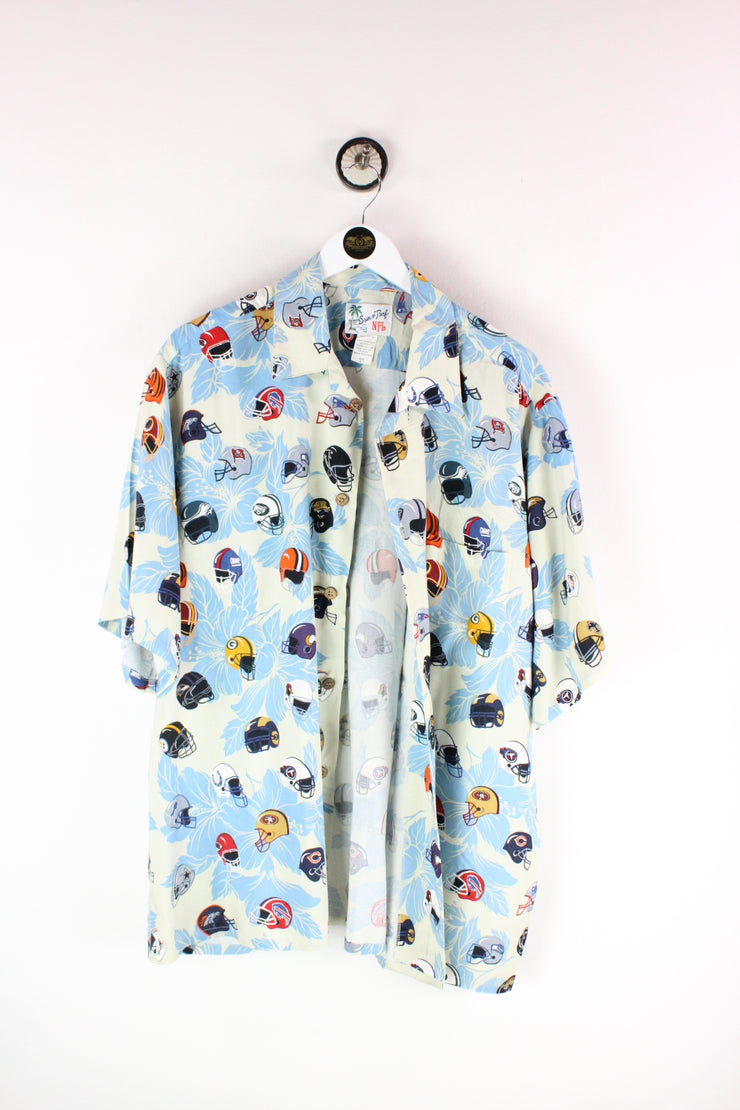 Vintage Colurful Crazy Party Shirt ( L )