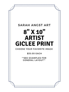 "8""x10"" Simple Giclee Print - Sarah Angst Art Greeting Cards, Giclee Prints, Jewelry, More"