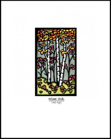 Autumn Woods - Simple Giclee Print - Sarah Angst Art Greeting Cards, Giclee Prints, Jewelry, More