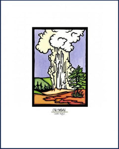 Old Faithful - Simple Giclee Print - Sarah Angst Art Greeting Cards, Giclee Prints, Jewelry, More