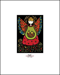 Angel - Simple Giclee Print - Sarah Angst Art Greeting Cards, Giclee Prints, Jewelry, More
