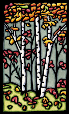 Original - Autumn Woods - Sarah Angst Art Greeting Cards, Giclee Prints, Jewelry, More