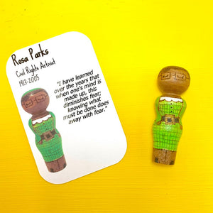 Rosa Parks Strong Woman Peg Doll