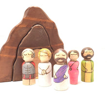 Load image into Gallery viewer, Jesus Easter Peg Doll Play Set