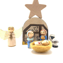Load image into Gallery viewer, Miniature Nativity Playset Tin