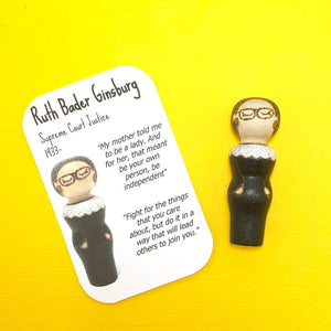 Ruth Bader Ginsburg Strong Woman Peg Doll