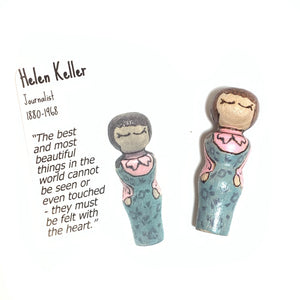 Helen Keller Strong Woman Peg Doll