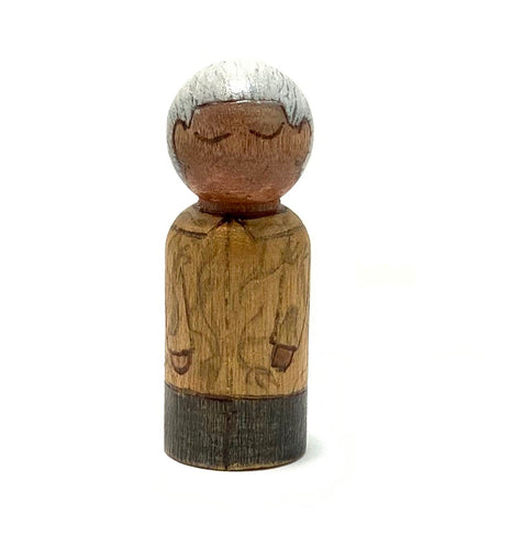Nelson Mandela Mighty Man Peg Doll