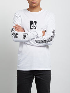 Pixel Stone Long Sleeve Tee - White