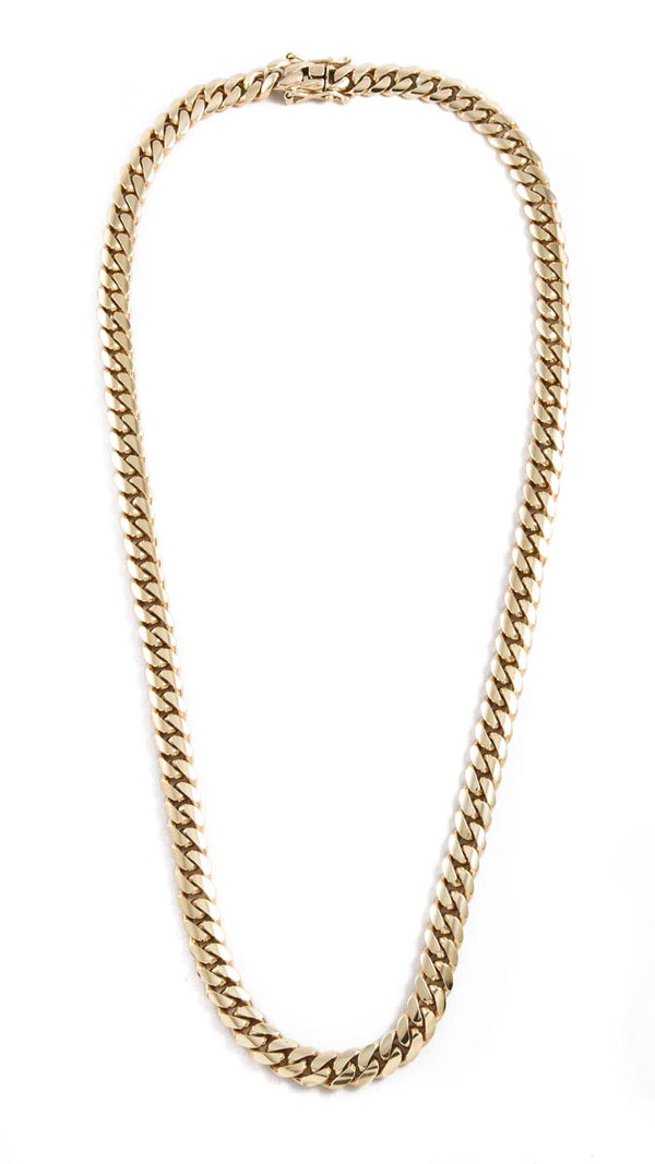 "14k Yellow Gold Miami Cuban Link Chain 26"" 10mm"