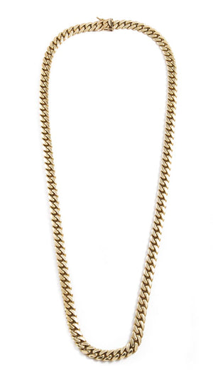 "14k Yellow Gold Miami Cuban Link Chain 26"" 7mm"