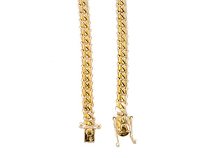 "14k Yellow Gold Miami Cuban Link Chain 24"" 6.0mm"