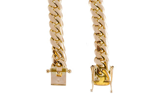 "14k Yellow Gold Miami Cuban Link Chain 26 ½"" 13.1mm"