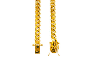 "14k Yellow Gold Miami Cuban Link Chain 26"" 8.2mm"